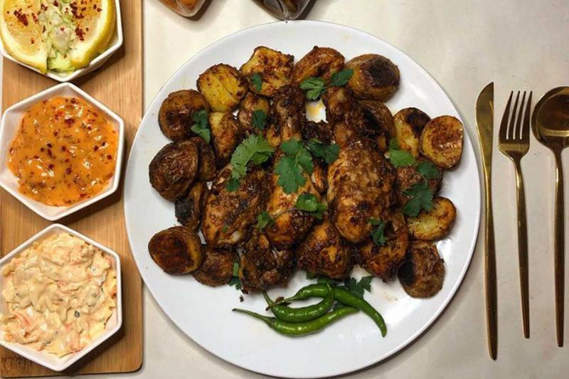 Regal Jerk Chicken with Spicy Roast Potatoes