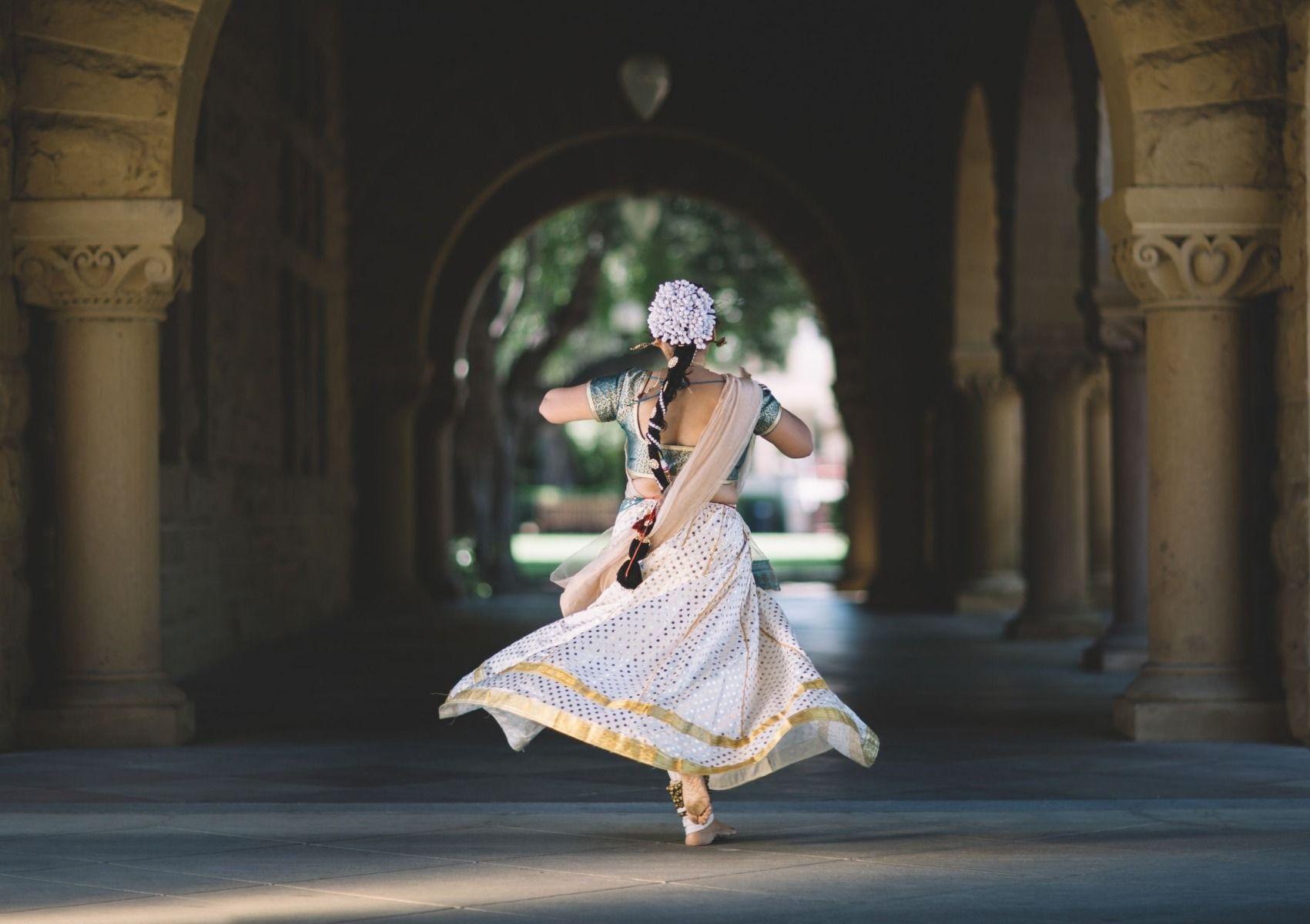Sari dancer with flower